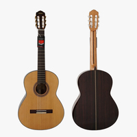 Vintage Spanish Skill Handmade Solid Top Classic Guitar Free Case Nylon String