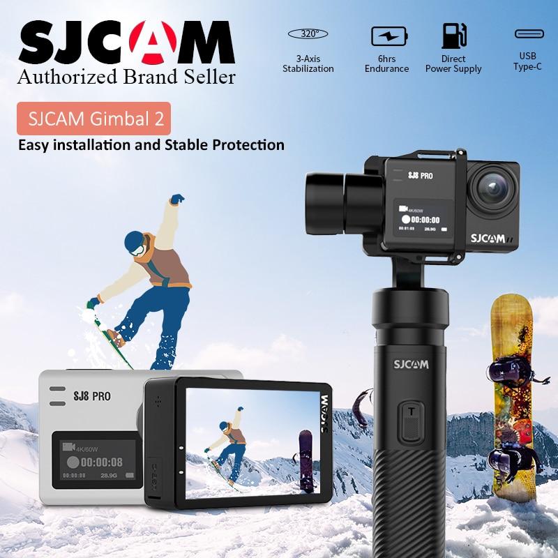 Original SJCAM SJ8 Pro 4K EIS Stabilization Sport Wifi Cam /SJCAM SJ8 Pro SJ7 Star Handheld GIMBAL SJ-Gimbal 2 3 Axis Stabilizer