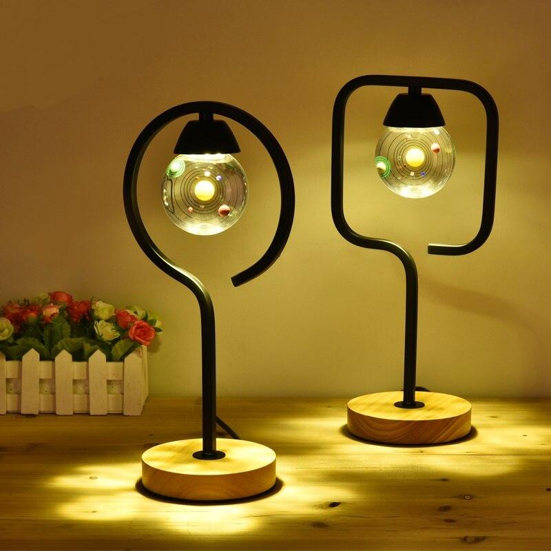 Американский творческий Настольные лампы стекло лампа Европейский спальня ночники теплый современный минималистский Пастырское Свадебны...