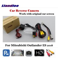 Liandlee Auto Reverse Parking Camera For Mitsubishi Outlander ES 2018 / Rear Rearview Camera Back Work with Car Factory Screen