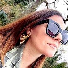 2019 Newest Oversized Square Cat's eye Sunglasses Women Luxury Brand Designer Black Pink Sun Glasses Female Vintage Shades Eyewe цена