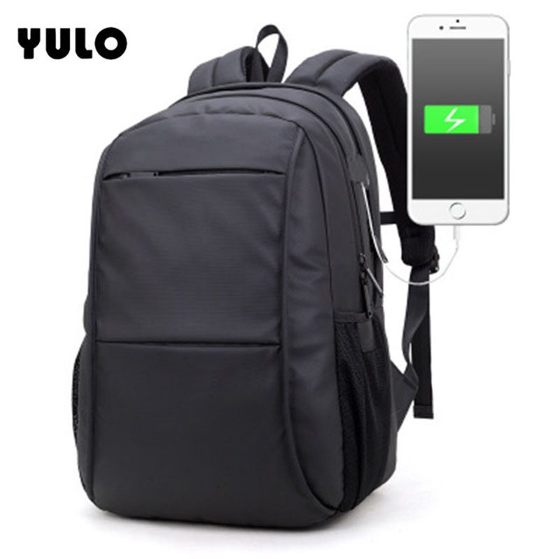 YULO USB Charging Men Backpacks 15inch Laptop Bags Men Large Capacity Waterproof Bags Business Travel Backpacks Anti Thief
