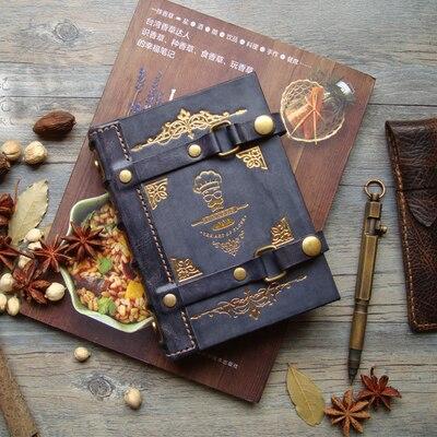 Manuel à feuilles mobiles manuel de Cuisine nourriture occidentale café torréfié vrai Chef en cuir enregistrer cette Cuisine privée Cheats