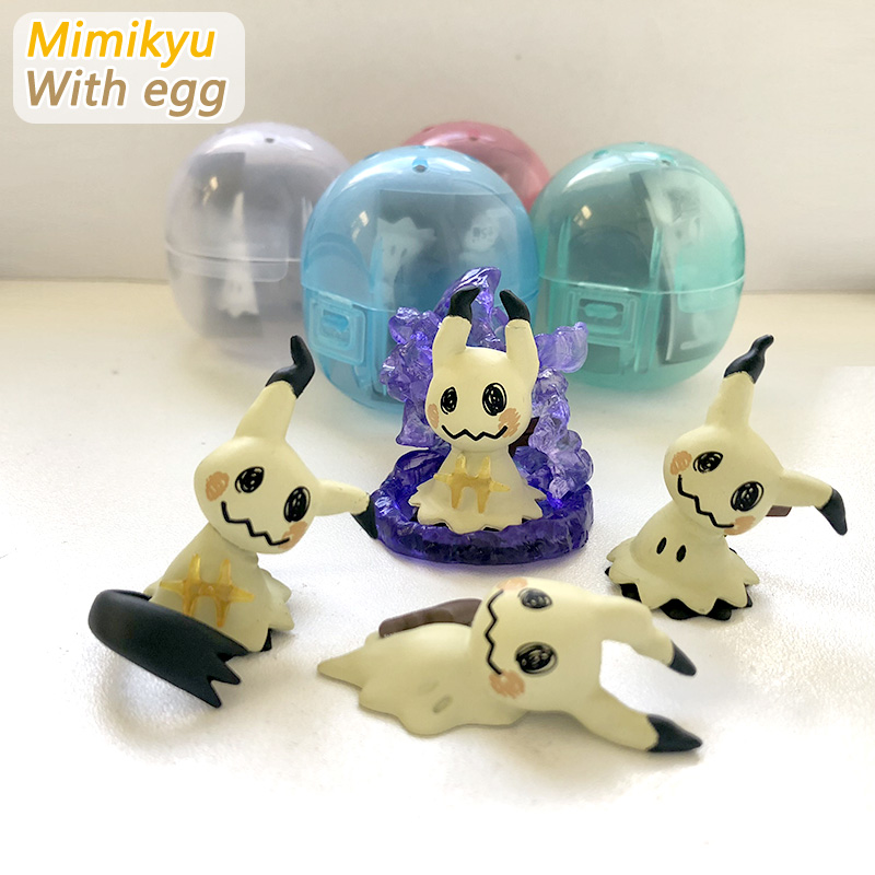 Original egg Mimikyu figures anime action toy figures Collection model toy Car decoration toy KEN HU STORE pokemones lucario articuno mewtwo charizard pikachu anime cartoon action toy figures collection model toy car decoration toys pokemones