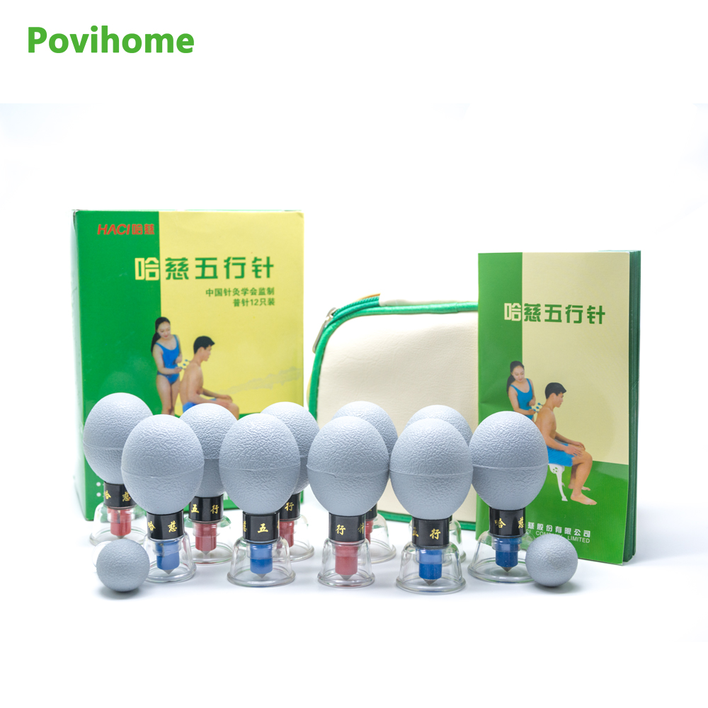 Povihome Body Massage Therapy Cupping Cup Moisture Absorber Anti Cellulite Vacuum Cupping Cup Silicone Family Massager C1290 28pcs thickened massage cupping ship from ru silicone chinese vacuum massage cupping therapy suction cup anti cellulite set kit