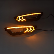 Hot car led parts Replace fog lamp cover 3 LED color for Focus 2015 model(China)
