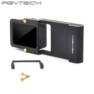 Image 5 - PGYTECH Adattatore per osmo action mobile zhiyun Gopro Hero 7 6 5 4 3 + xiaoyi 4 K liscia Q accessorio interruttore piastra di montaggio Della Macchina Fotografica