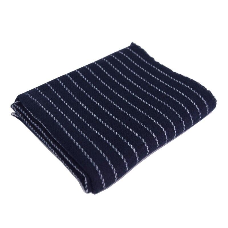 Spécial laine mélanges mode bleu blanc rayé écharpes pour hommes châle pashmina épais pour l'hiver 65x210 cm