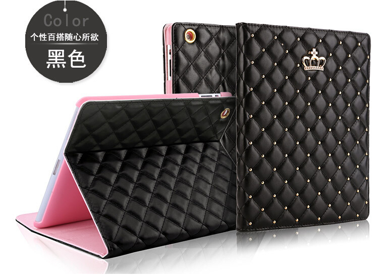 For Ipad Mini 1 2 3 Crown Diamond Leather Case For Ipad Luxury Soft Leather Stand