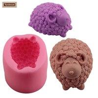 Cute Sheep Flexible Silicone Soap Mold Craft DIY Handmade Soap Form Mould Cake Fondant Sugarcraft Baking