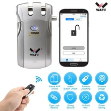 цена на Wafu Smart Lock Electric Bluetooth Door Lock Wireless Remote Control Access Control System Security Door Lock Wafu 018