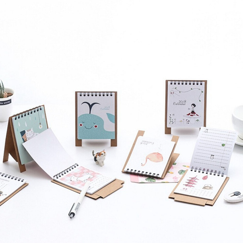 Office & School Supplies Calendars, Planners & Cards 19*8.3cm Creative Desk Standing Paper Multifunction Organizer Schedule Planner Notebook 2018 Year New Kawaii Cartoon Calendar