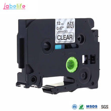 Labelife 1 pcs TZe131 TZe-131 TZe 131 TZ131 TZ-131 Black on Clear Brother TZ Label Tape for Brother P-touch Label Printer ,12mm(China)
