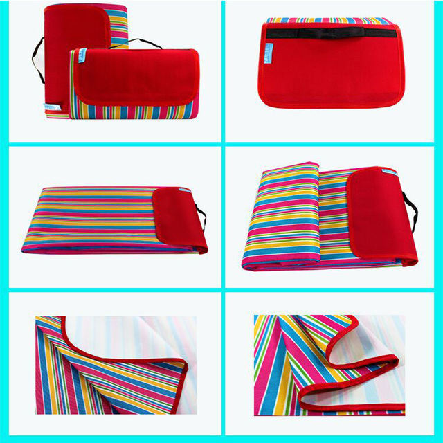 Kyncilor Picnic Cushion 600D Oxford Cloth Outdoor Picnic Waterproof and Moistureproof Spring Beach Cushion