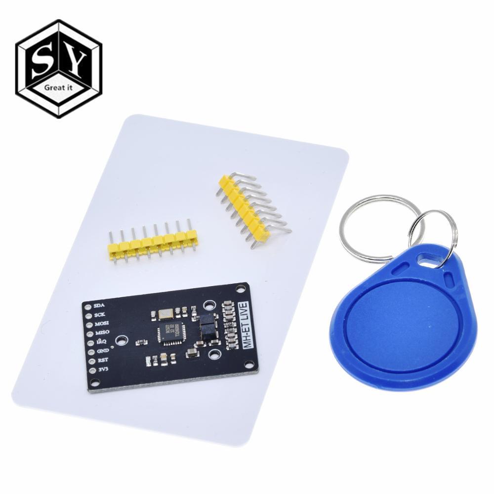 Модуль RFID RC522 Φ S50 13,56 МГц 6 см с бирками SPI запись и чтение для arduino uno 2560