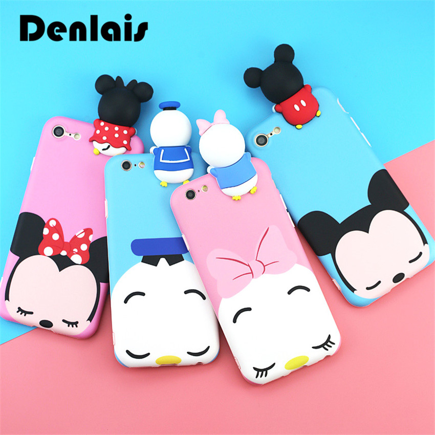 Cute 3D Mickey Minnie Mouse Donald Duck Cartoon Cases For Huawei P9 Fundas Soft Phone Cases For Huawei P10 P10 Plus Cover