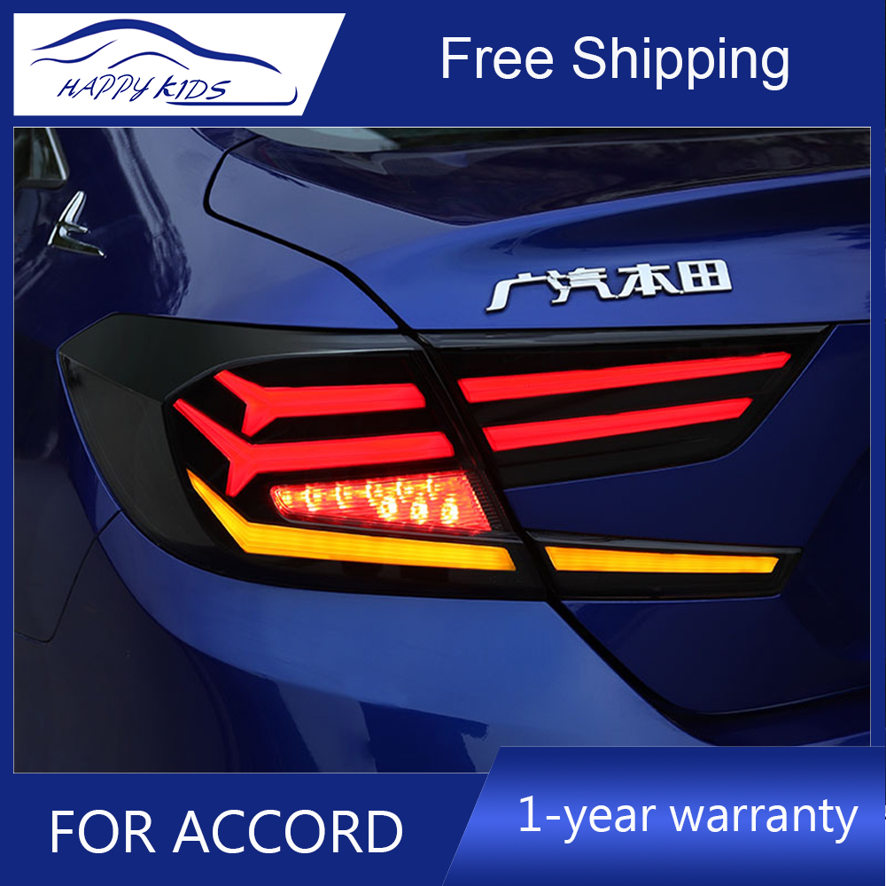 Car styling Tail lights for Honda Accord 10G New Acoord 2017 2019 Led Tail lamp Rear
