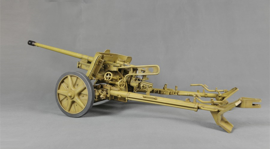 German 50 Mm Anti Tank Gun: 1/6 German Sand Color Defense PAK38 50mm Anti Tank Gun-in