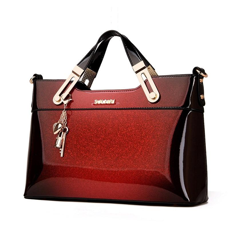 2019 designer handbag high quality patent leather female tote bags handbag women famous brands messenger bag ladies work clutch tote bags for work