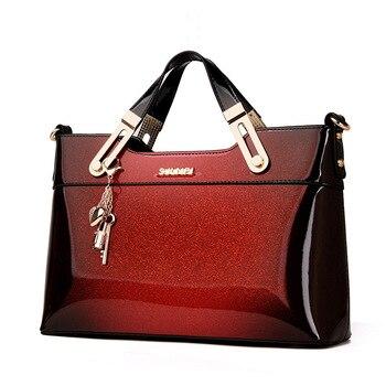2019 designer handbag high quality patent leather female tote bags handbag women famous brands messenger bag ladies work clutch Сумка