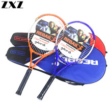 High Quality Aluminum Alloy Carbon Tennis Racket Fiber Men and Women Ultra Light Coach Recommended Training Racquets with Bag T4(China)