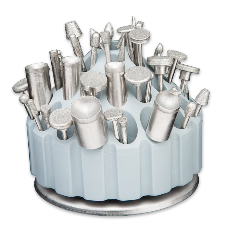 Round Shape Drill Bit Storage Case Stand Hard Plastic Saving Space Drill Finishing Holder Organizer 60 Hole Tool Case Box