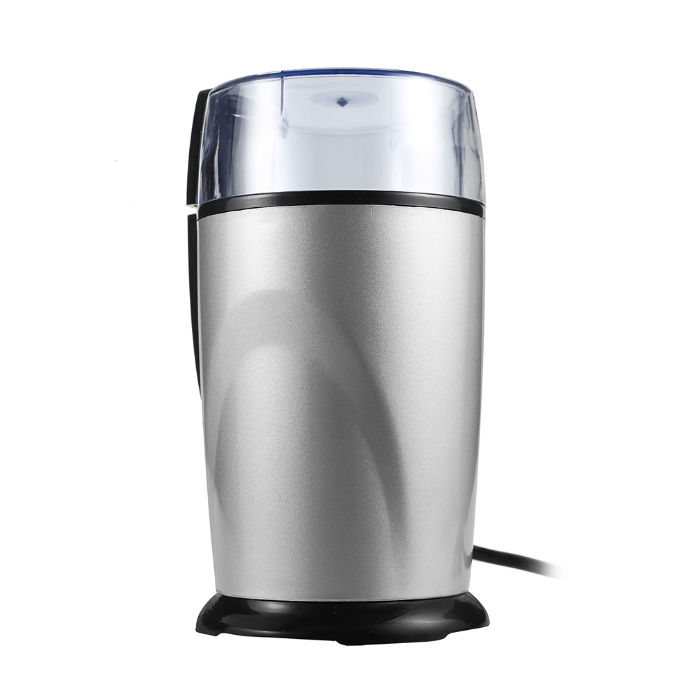 Electric Stainless Steel Coffee Grinder Mini Home Kitchen Salt Pepper Mill Spice Nuts Seeds Coffee Bean Grinding Machine EU Plug large capacity manual stainless steel salt pepper grinder mill silver translucent