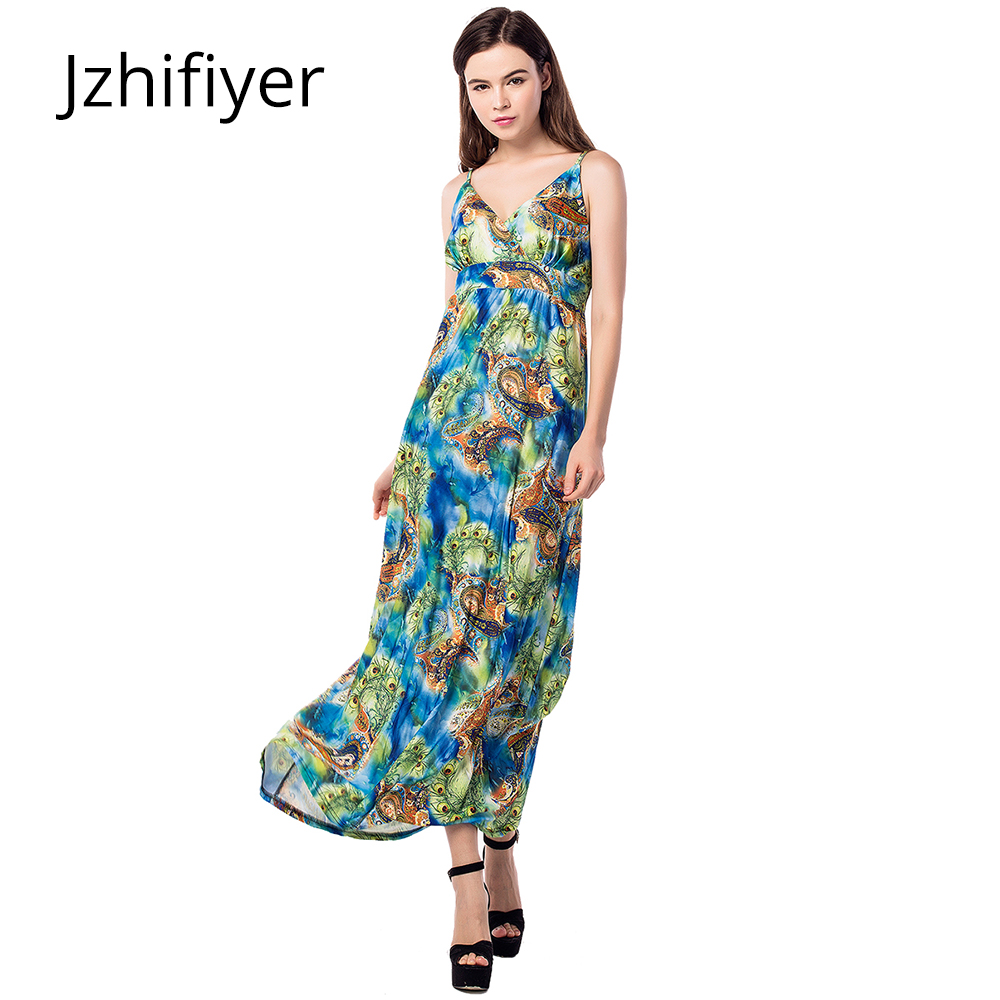 women mujer maxi dress onepiece sexy V-neck backless tank dresses pareo sarong kaftan paisley green dress plus size L-6XL