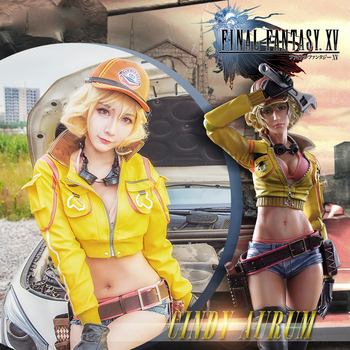 Final Fantasy Cosplay Costume FF15 Cindy Aurum Full Set FFXV Game Cos Cindy Sexy Costume Kit for Women Christmas Event Uniform
