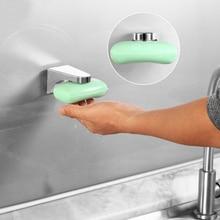 1 soporte magnético para jabón de OUNONA, herramienta elegante, soporte de esponja a prueba de polvo, soporte para plato, jabonera para baño, lavabo, hogar