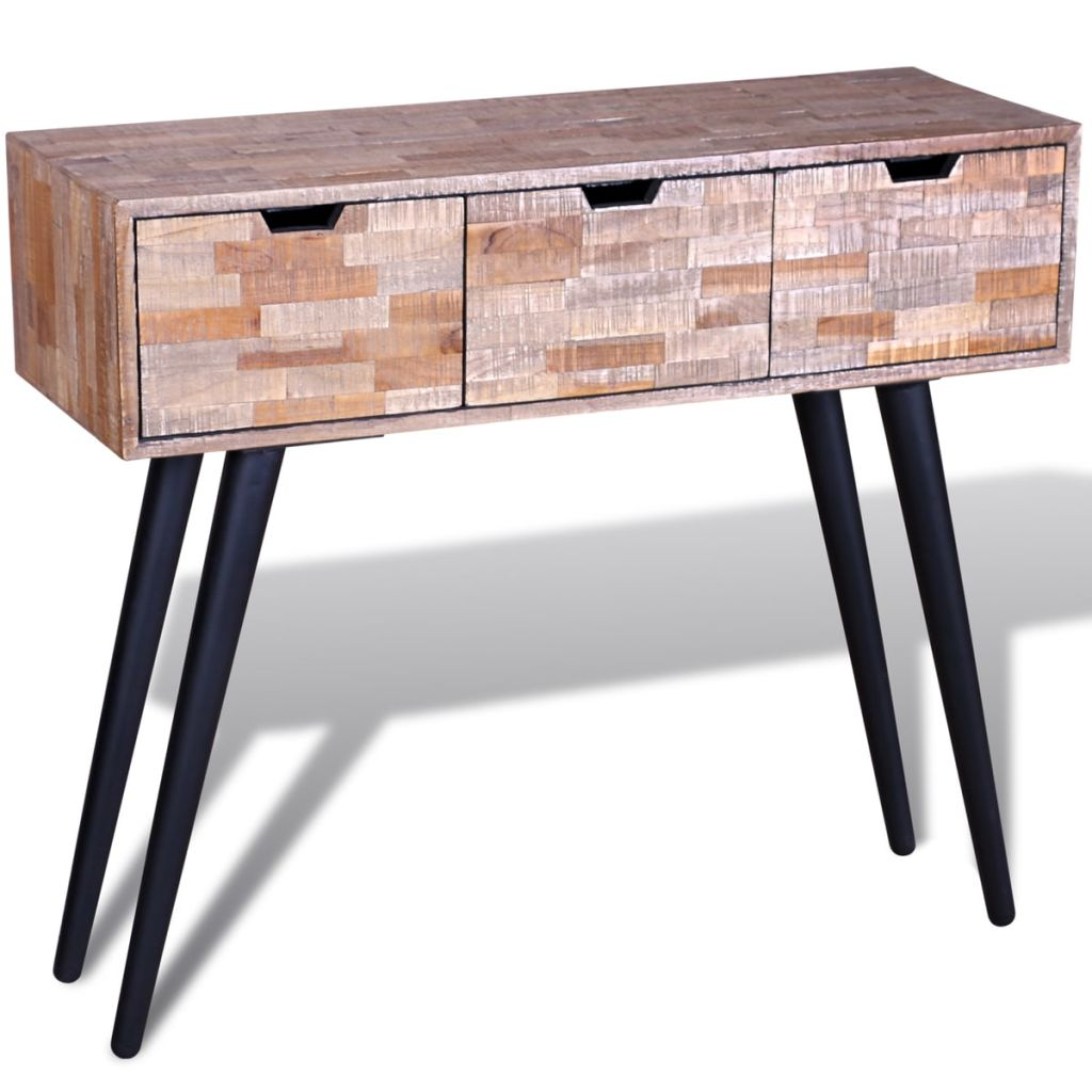 Vidaxl Coffee Table Teak Resin: VidaXL Console Table Reclaimed Teak-in Sideboards From