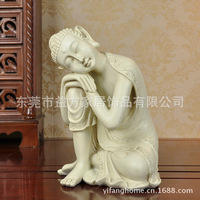 Wholesale Southeast Asian export trade beige sleeping Buddha statue decoration ornaments resin crafts Decoration figures