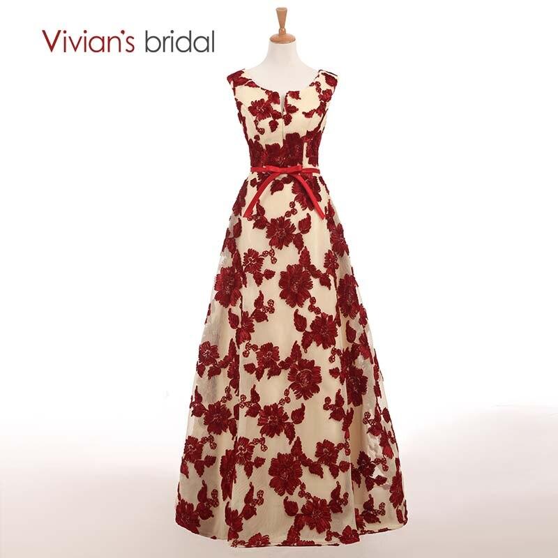 Вечерни рокли на Vivian's A Line Вечерни рокли с дълги рокли Облечи официални вечерни рокли ED208-5