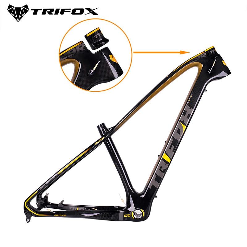 Cadre de VTT en carbone TRIFOX vtt 27.5/29er 31.6mm cadre de vélo en carbone vtt cadre de VTT utilisé pour le vélo de course cyclisme