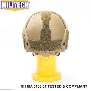 Image 5 - Iso Gecertificeerd Militech Cb Nij Level Iiia 3A Snelle Occ Liner Hoge Xp Cut Kogelvrije Aramide Ballistic Helm Met 5 jaar Garantie