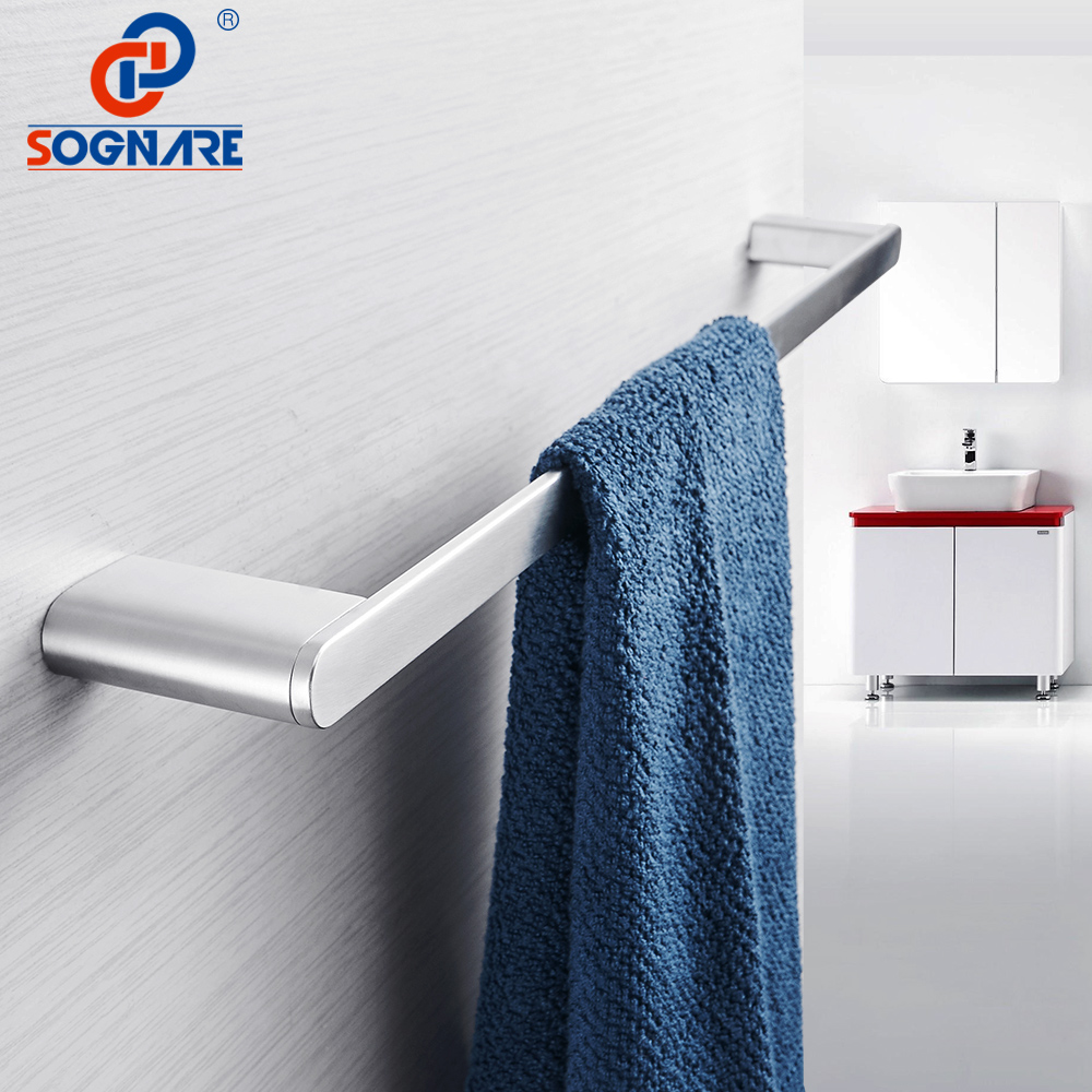 SOGNARE Towel Rack Bath Towel Bar Single Towel Rail Towel Holder Bathroom Accessories Set 304 Stainless Steel Bathroom Hardware white european bathroom accessories stainless steel towel rack paper holder towel bar bathroom hardware package ym010