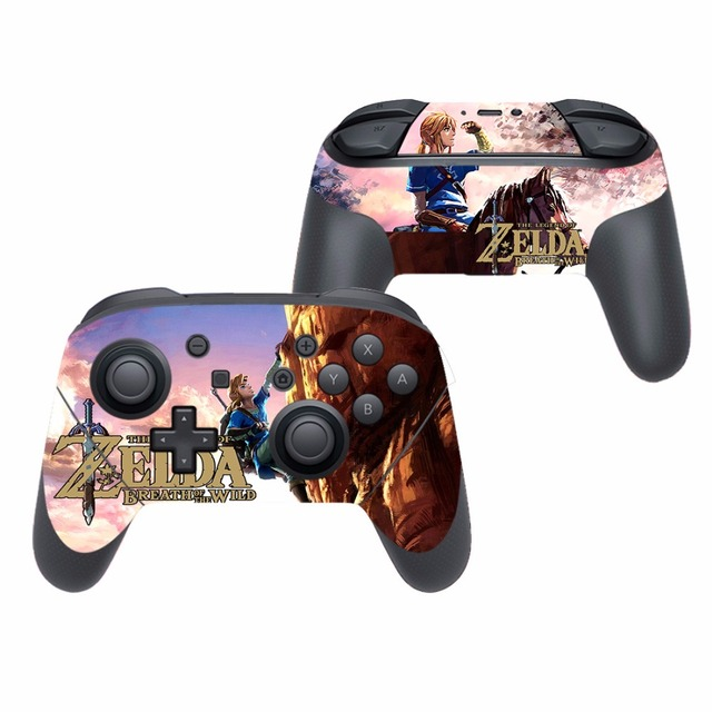 Game The Legend of Zelda Vinyl Cover Decal Skin Sticker for Nintendo Switch Pro Controller Gamepad Skin Stickers 3