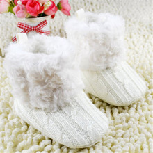 Winter Infant Baby Crochet Knit Boots Kids Warm Booties Toddler Girl Winter Snow Crib Shoes