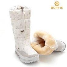 2016 neue winter hohe stiefel plüsch warme dame schuh plus größe 35 bis 42 einfach tragen reißverschluss bis mädchen weiße farbe blume schnee stiefel