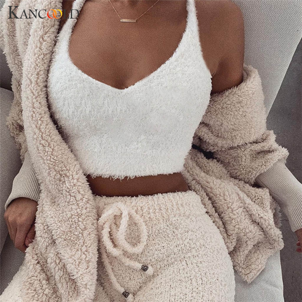 KANCOOLD   top   Fashion Women Casual V-Neck Sleeveless Short Vest Sexy Solid   Tank   high quality party New   top   femme 2018dec22