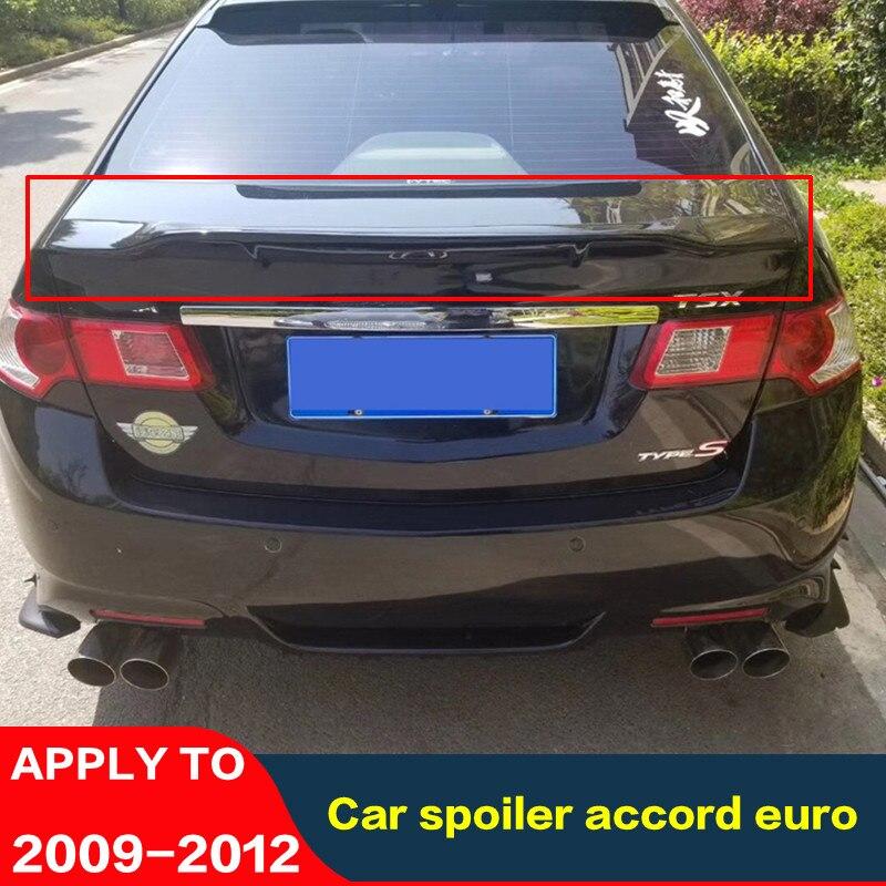 FOR Honda Accord Euro Car Spoiler 2009-2012 Carbon Fiber Rear Lip Rear Spoiler Accord High Quality Colour Car Rear Wing Tail Fin