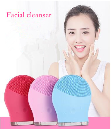 Ultrasonic beauty instrument, face wash instrument, electric silicone facial cleanser, face cleansing instrument ,deep cleaning electric 3d silicone massage ultrasonic facial cleansing brush beauty instrument pores cleaner face vibration spa usb recharge
