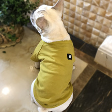 2018 Spring Summer Pet Clothes for Dogs Letter Embroidery Cotton Dog Breathable Tshirt Cat Small S-4XL