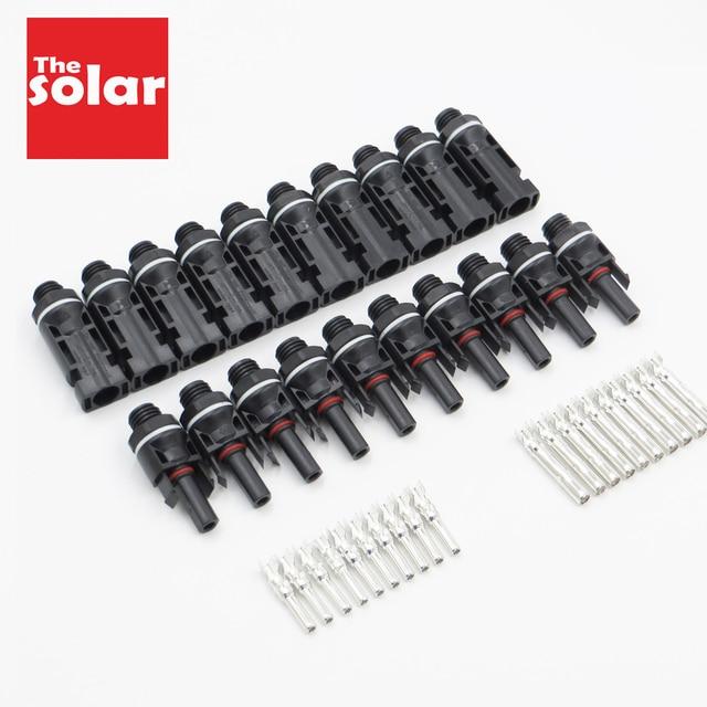 Bộ 10 Đôi Tất X PV Pin Năng Lượng Mặt Trời Gắn Đầu Nối Lắp Đặt Núi Năng Lượng Mặt Trời Bộ Kết Nối 30A 1000VDC Ren Phối Lưới Inverter