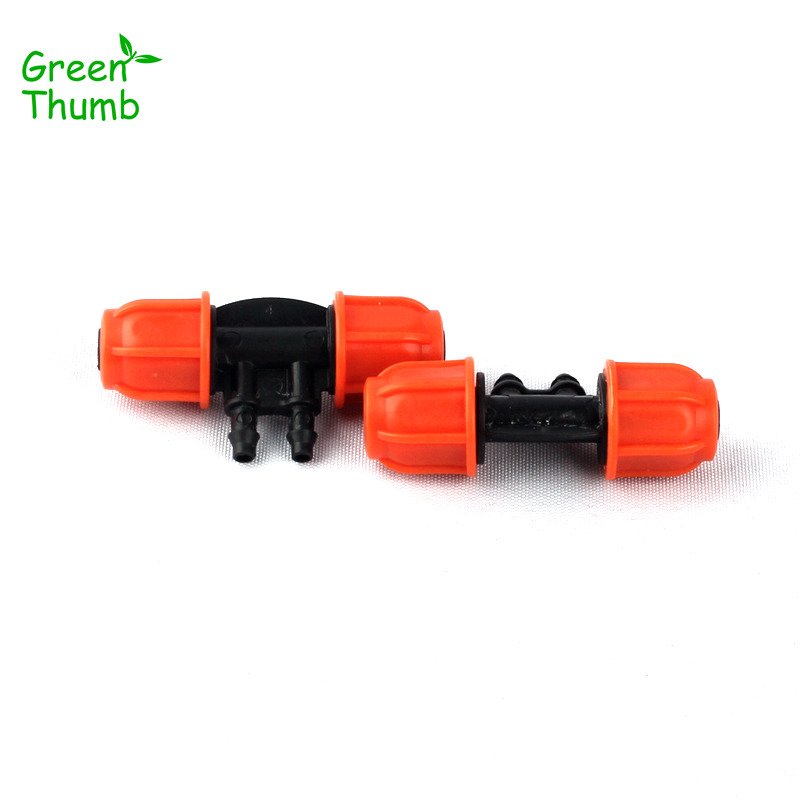 5pcs 8/11mm to 4/7mm Garden Hose Barbed 4 Ways Thread Lock Reducing Connector Micro Drip Irrigation System Water Splitters
