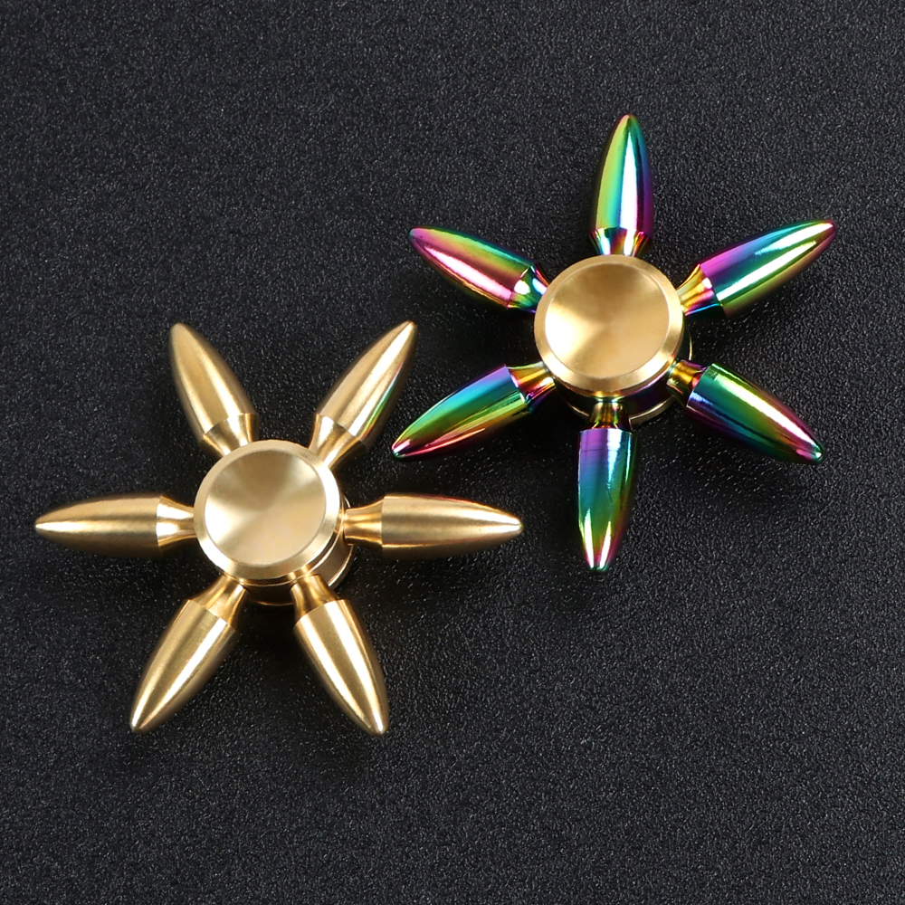 Bullet Spinners Toys Rainbow Fidget Spinner Hand Spinner Metal Gold Handspinner Figet spinner Top Spiners Toys