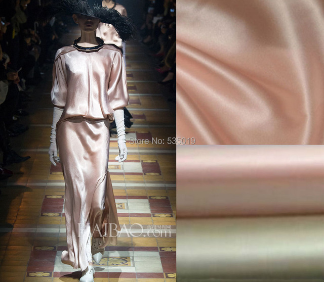 2018 New Fashion solid color elastic satin silks 100% mulberry silk Fabric nude color white silky fabric wholesale
