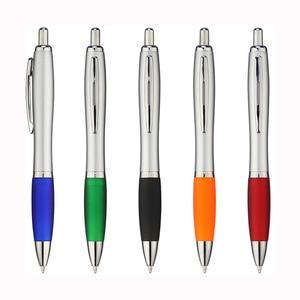 Image 3 - Lot 50pcs Retractable Plastic Gourd Ball Pen,Silver Barrel Ballpoint,Free Laser Engraved Custom Promotion Gift,Fair Advertise