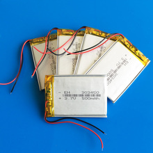 Lot 5 pcs 3.7V 500mAh 303450 li ion rechargeable battery polymer lithium for MP3 GPS DVD PSP bluetooth recorder e-book camera