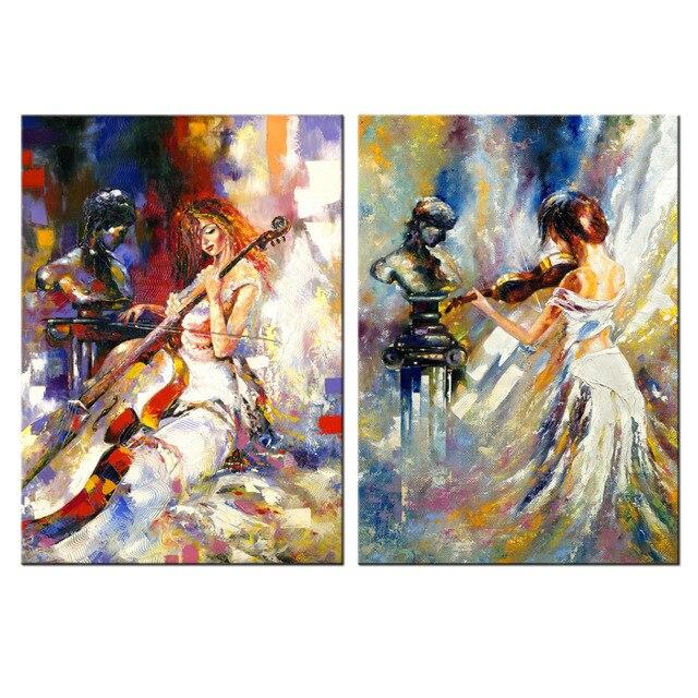 Fabuloso Arte contemporânea Pintura A Óleo Abstrata Poster Prints Menina  VM41